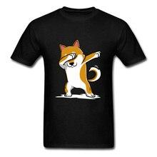 Techno Dabbing Shiba Inu Dog Dance T Shirt Hip Hop Rock Music DJ Small Corgi Terrier Plain Tshirt Bernese Mountain Print Man
