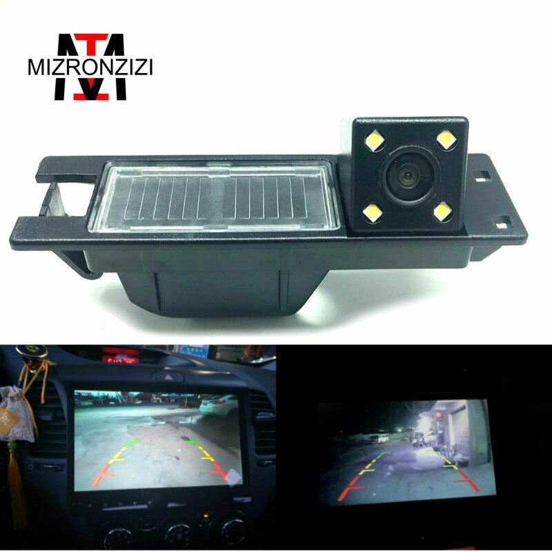 MIZRONZIZ Visão Noturna CCD HD Reversa Câmera de Visão Traseira Do Carro Para OPEL Vectra C Astra H J/Corsa D /Meriva A/Zafira B Para FIAT Grande