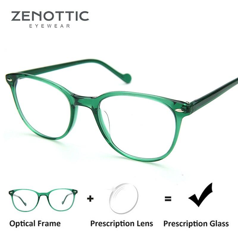 a5a66f14e4 Detail Feedback Questions about ZENOTTIC Retro Rivet Prescription Glasses  Frame Women Optical Myopia Eyeglasses Hyperopia Spectacles Photochromic  Anti Blue ...