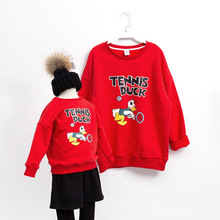 Family matching clothes winter hoodies cartoon family look matching outfits sweater family clothing mother and daughter clothes