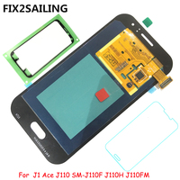 New Super AMOLED LCD Display 100% Tested Working Touch Screen Assembly For Samsung Galaxy J1 Ace J110 SM J110F J110H J110FM