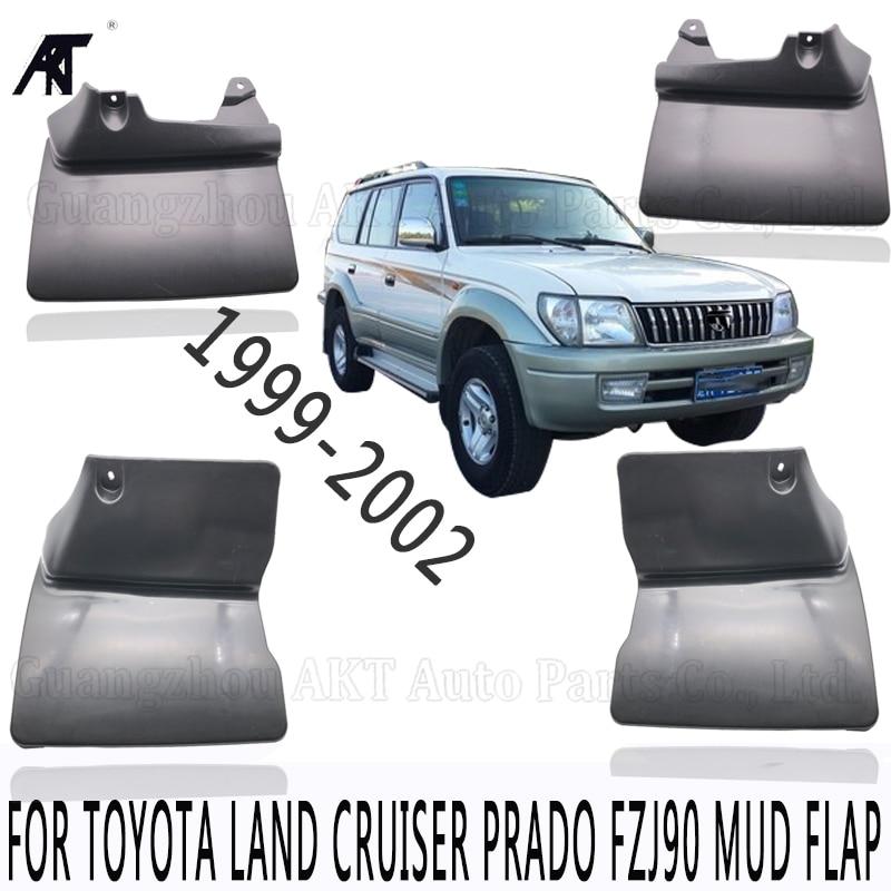 Black Front &Rear Mud Fender Flaps Splash Guard Mudflaps Mudguard Cover Trim For Toyota Land Cruiser prado FZJ 90 99 02 Mud Flap