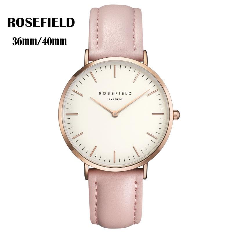 Fashion Metal Mesh ROSEFIELD Watch Women Men Ladies Luxury Brand Quartz-watch Relogio feminino Masculino montre femme