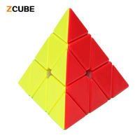 Hotselling Pyramid Magic Cube Stickerless Professional Smooth Speed Cubo Magico Puzzle Classic Toys Learning Education 45