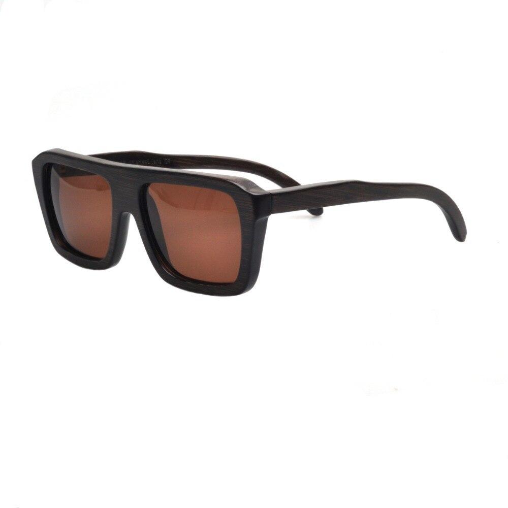 ZA16-BR-B-1 Bamboo Sunglasses  Polarized Lenses Wooden Glasses With box