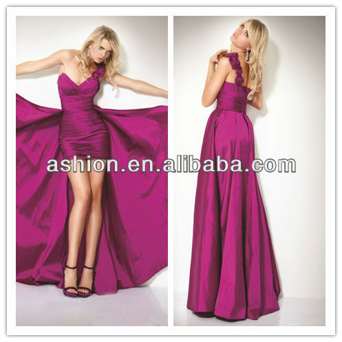 ED 0874 New arrivals 2014 long high low evening dresses sewing ...
