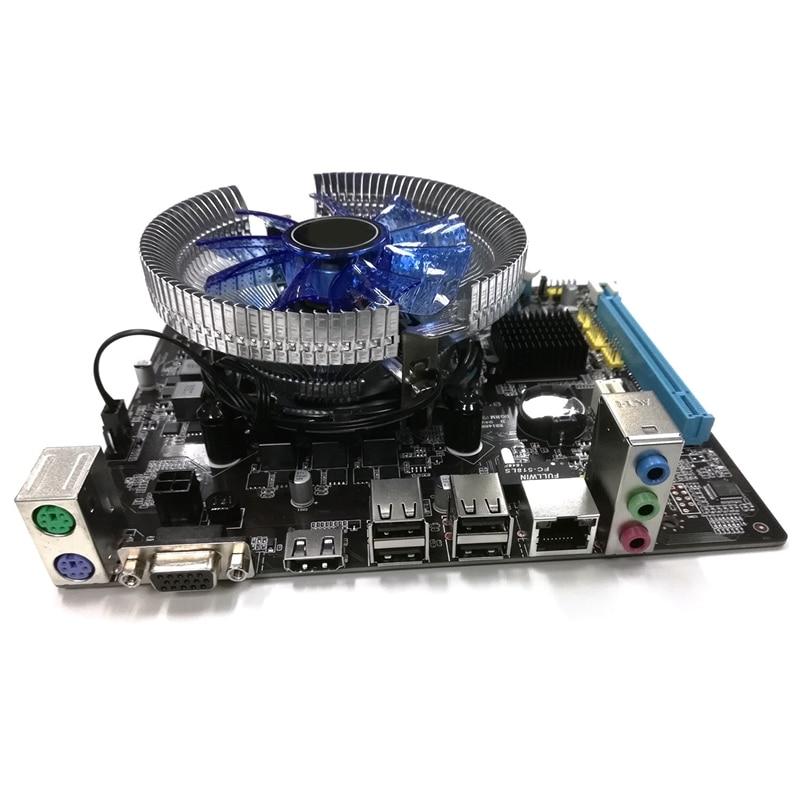 Hm55 Computer Motherboard Set I3 I5 Lga 1156 4G Memory Fan Atx Desktop Computer Motherboard Assembly Set Game Set