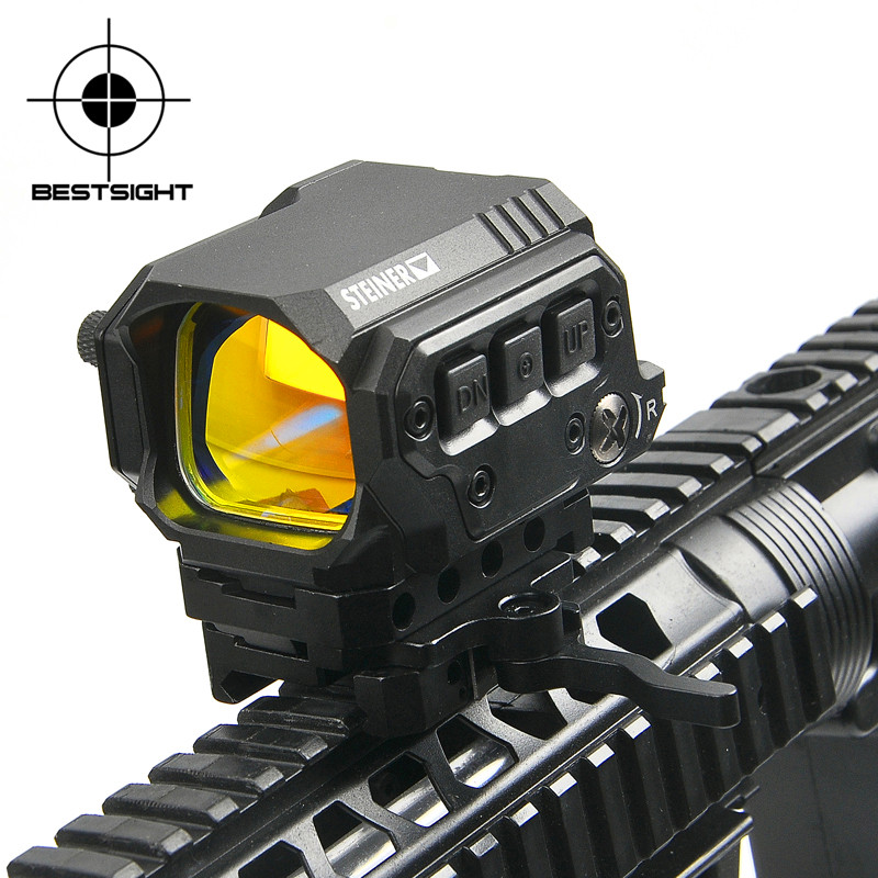 Tactical Riflecope Optic Sight R1X Reflex Red Dot Sight Holographic Sight Hunting Scopes with IR Function for Airsoft Air GunTactical Riflecope Optic Sight R1X Reflex Red Dot Sight Holographic Sight Hunting Scopes with IR Function for Airsoft Air Gun