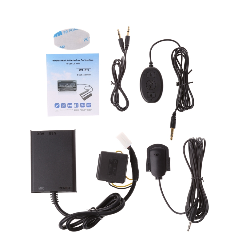 Auto Bluetooth Kits Hands-free Stereo AUX Adapter Interface For Honda Civic Accord