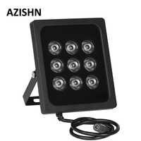 AZISHN CCTV 9 pz LED Array illuminatore IR a raggi infrarossi IR Luce Luce di Riempimento Visione Notturna Esterna del CCTV per la Sorveglianza TVCC fotocamera