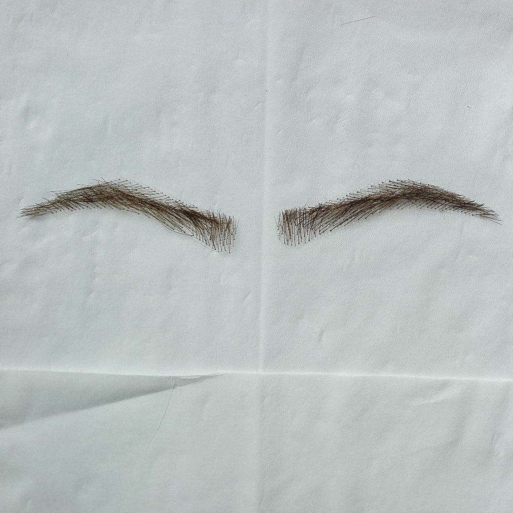 Wholesale Hand Made Human Hair Hand Knot Fake Eyebrows Handmade Lace