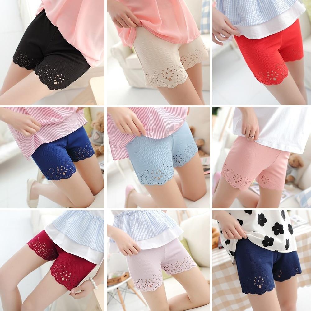 Women Ladies Floral Short Leggings Elastic Underpants Comfy Bottom Leggings WOMJL0018