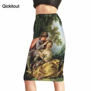 Image 1 - Qickitout Skirts 2016 New Hot Products Womens Sexy Forest Tree Cute Kids 3D Print Skirts High Waist Package Hip Skirt Drop Ship