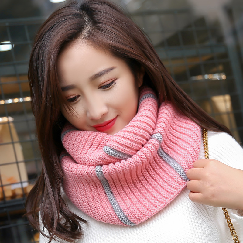 Fashion Women Knitted Ring   Scarf   Tube Neck Warmer   Scarf   Luxury Brand Casual Outdoor Windproof Winter Warm   Scarves     Wraps