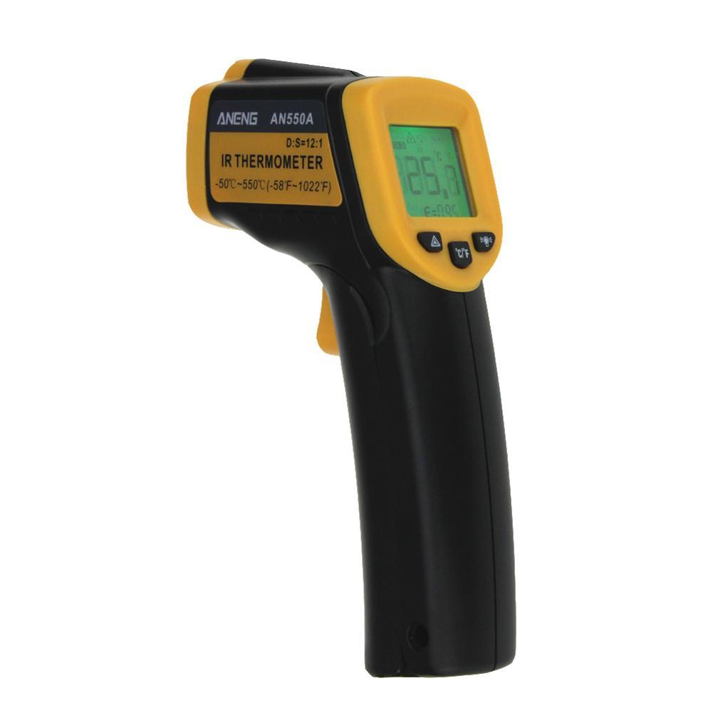 AN550A Digitales Infrarot-thermometer LDC IR-50 ~ 550 C Berührungslose IR aquarium Laserpistole Pyrometer temperatur Thermometer Meter