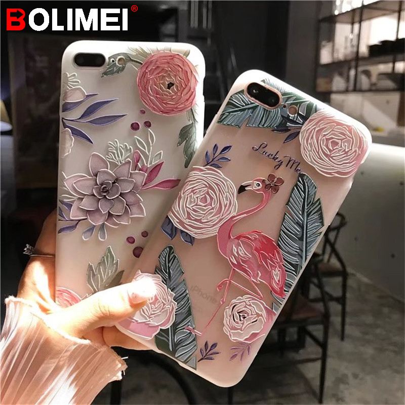 For iPhone 6 6s 7 7 Plus Cases iPhone X Case Silicone Cute Cartoon Matte TPU Soft Back Cover Phone Cases For iPhone 7 8 8 Plus