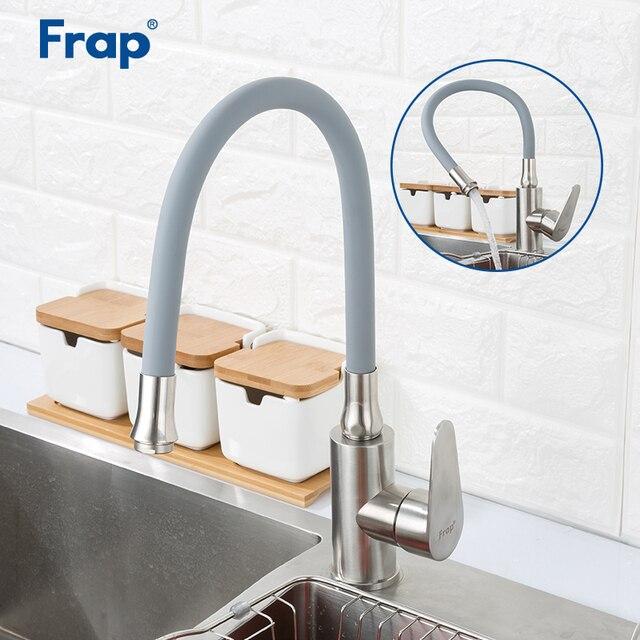 FRAP rubinetti della cucina per la cucina lavello rubinetti 360 gradi di rotazione ugello rubinetto di acqua di rubinetto per il risparmio idrico miscelatore della cucina del rubinetto torneira