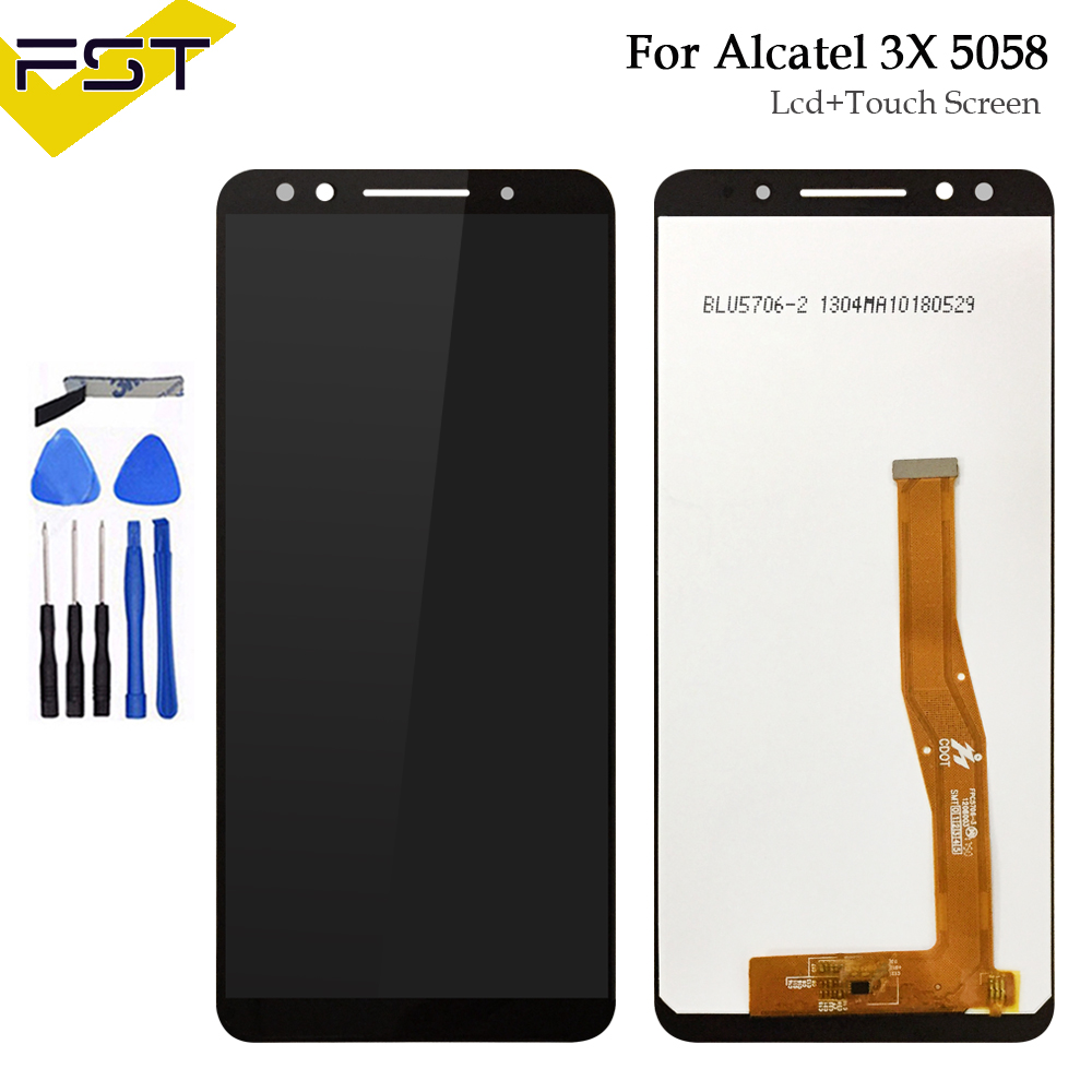 5.7 inch Black Full LCD display + Touch Screen Digitizer Assembly For Alcatel 3X 5058 5058A 5058I 5058J 5058T 5058Y5.7 inch Black Full LCD display + Touch Screen Digitizer Assembly For Alcatel 3X 5058 5058A 5058I 5058J 5058T 5058Y