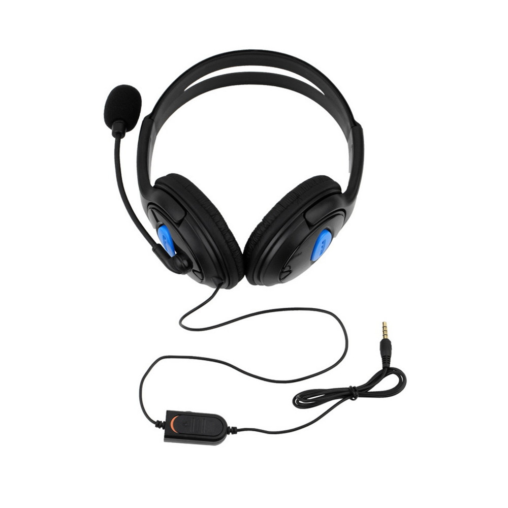 Wired Gaming Headset Earphones Headphones with Microphone Mic Stereo Supper Bass for PlayStation 4 Gamers for Sony PS4