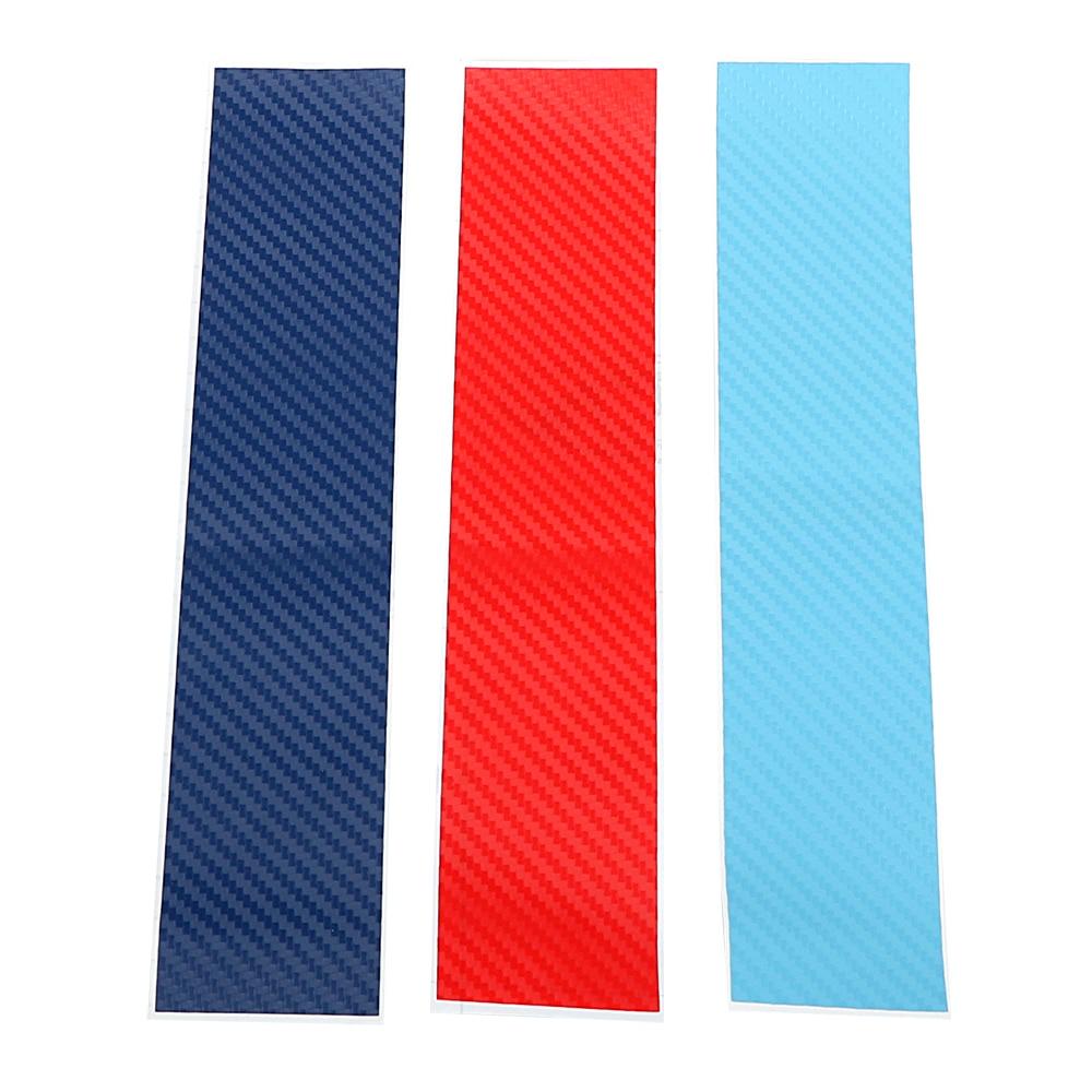 3pcs/set Car-styling Car Stickers Decals Carbon Fiber front Grill Stripes decals For BMW M3 M5 M6 E46 E39 E60 E90