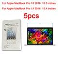 5 pcs glossy matte nano anti-explosão protetor de tela para apple macbook pro 13 2016 película protetora tablet de 13.3 polegadas