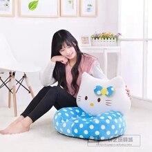 plush lovely blue spot kitty children sofa toy lovely blue kitty  tatami sofa toy gift about 54x45cm