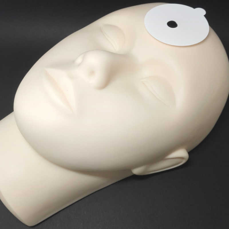 Bireysel doğal vizon yanlış kirpik yapıştırıcı tutucu paleti göz kirpik uzatma pedleri üzerinde kirpik yeşim taşı