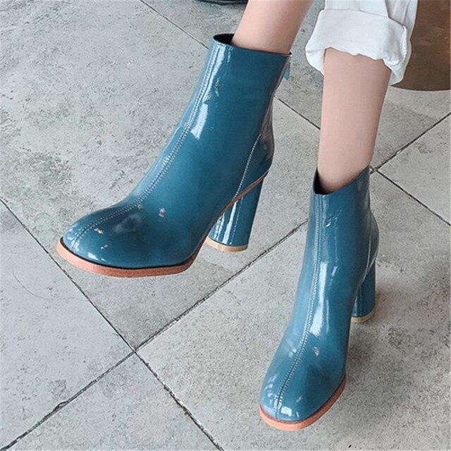 FEDONAS 2020 hiver chaud confortable bottes courtes croisées en cuir véritable femmes bottines Punk talons hauts chaussures de fête femme