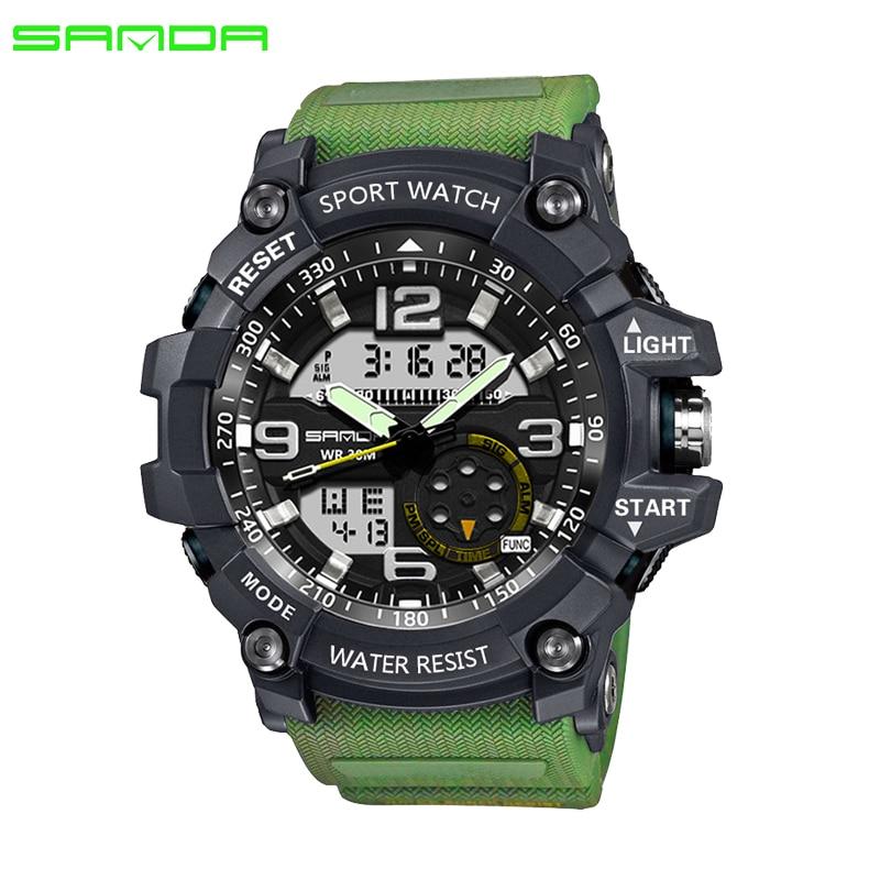 2017 SANDA Militaire Sport Horloge Mannen Waterdicht Horloge Voor - Herenhorloges
