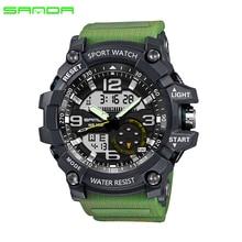 2017 SANDA Военные спортивные часы Мужские водонепроницаемые часы для мужских часов Топ бренда Роскошные часы Camping Dive relogio masculino 759
