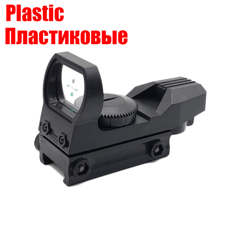 Plastic Toy Gun Accessories Green Dot Riflescope 20mm Rail Riflescope Hunting Optics Holographic Reflex Reticle Tactical Scope