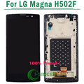 1/pcs color negro para lg magna h502f h500f y90 lcd Display + Touch Screen Digitizer + Frame Reemplazo del Conjunto Envío gratis