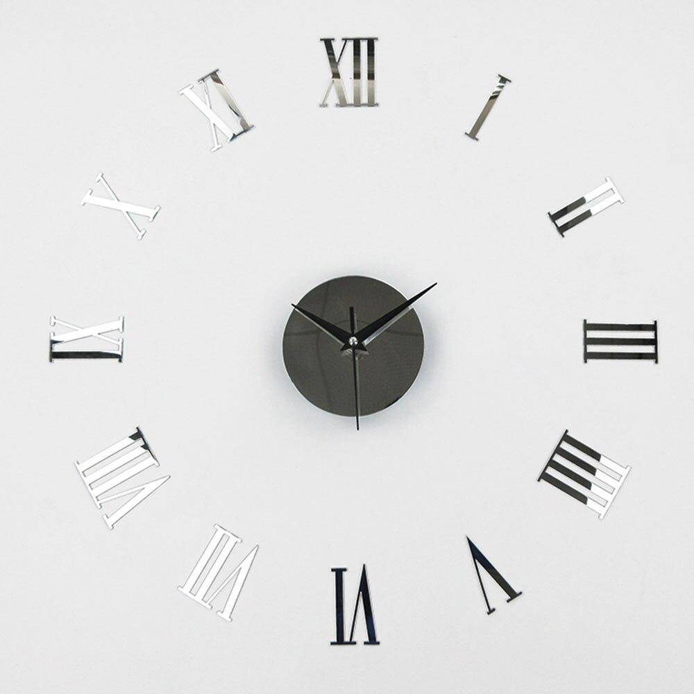 DIY 3D зеркальные настенные наклейки настенные часы художественная роспись домашний Декор Гостиная ТВ Фоновые наклейки настенные часы кварцевые иглы - Цвет: I