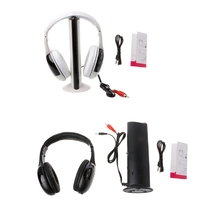 Hot Sale 5 in 1 Hi-Fi Wireless Headset Portable Headphone Video Game Earphone For TV DVD MP3 PC High Quality стоимость
