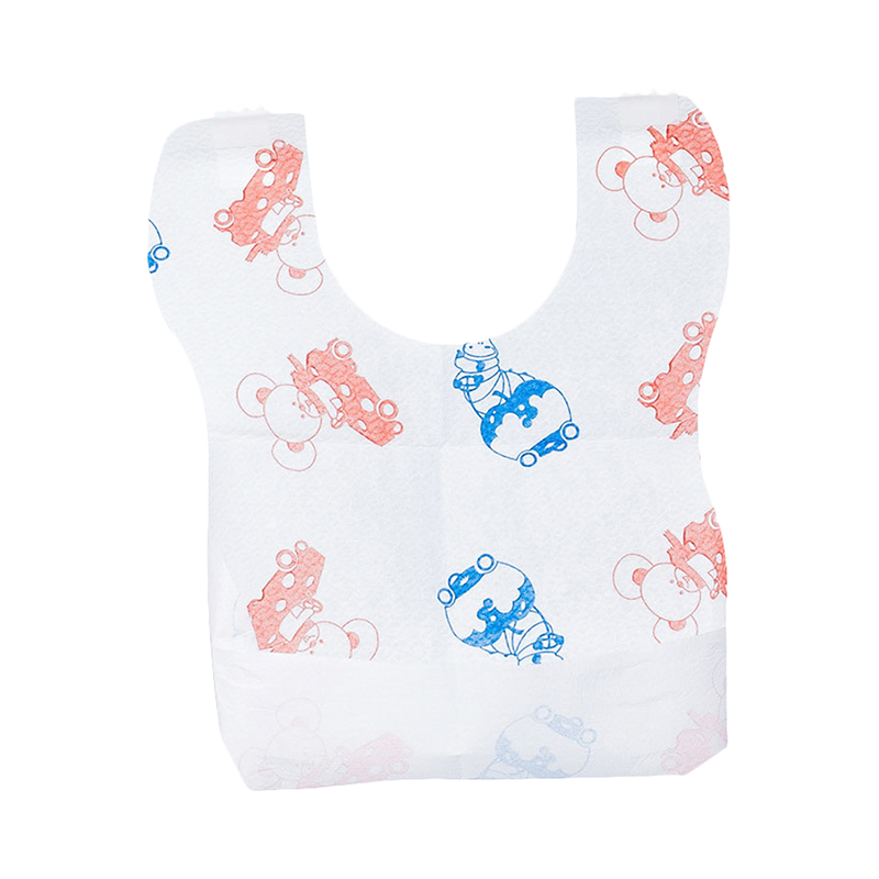 Bib Chicco disposable bibs, 40 pcs, with a pocket and velcro, 6 months + синийцвет 3 6 months