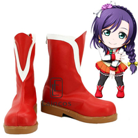 Anime LoveLive School Idol Project Sunny Day Song Tojo Nozomi Shoes Cosplay Christmas Party Boots Custom