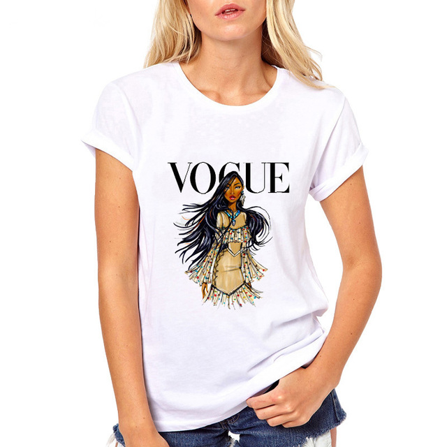 T áo sơ mi nữ áo thun vogue punk công chúa camiseta mujer sexy cổ điển t-shirt màu trắng quan hệ nhân quả tee áo sơ mi femme cho các cô gái cao quý quần áo