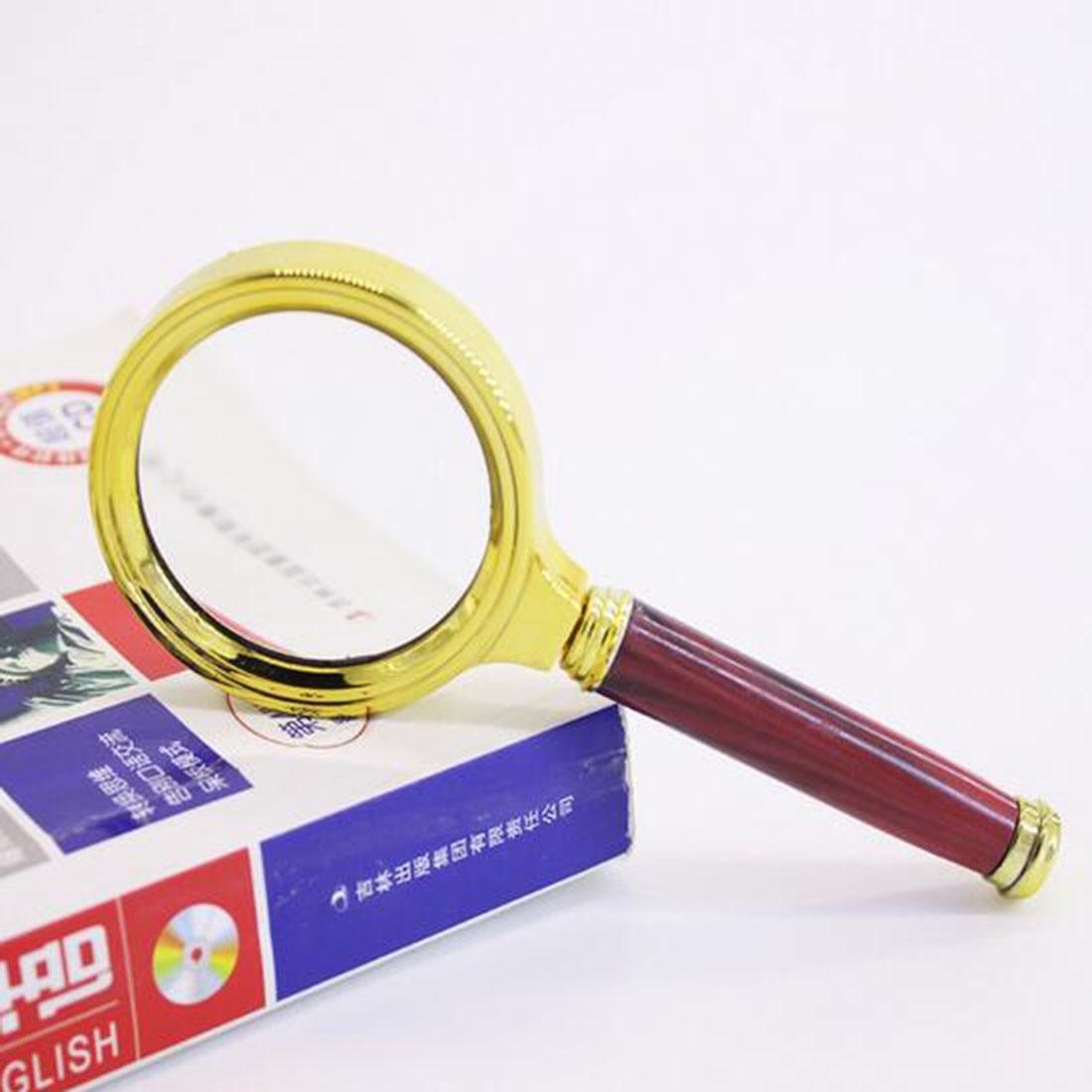 1pc 5 X 90mm Metal Handheld 10x Magnifier Magnifying Glass