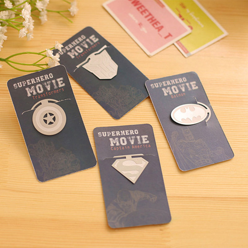 Superior Bookmarks For Books Part - 8: 20 Pcs/lot Cute Super Hero Metal Bookmarks For Books Kawaii Batman Paper  Clips Book Markers Stationery Office School Supplies-in Bookmark From  Office ...