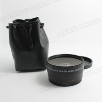 Free Shipping Tracking Number NEW 52MM 0 45X Wide Angle Lens Macro Lens Bag For Nikon