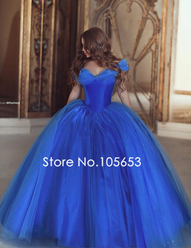 luxury ball gown wedding dresses with butterfly royal blue