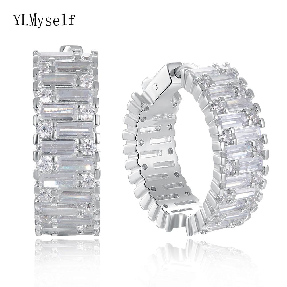 24 mm diameter Real 925 silver hoop earrings jewelry luxury Anniversary Gifts jewellery sterling silver wide circle earring