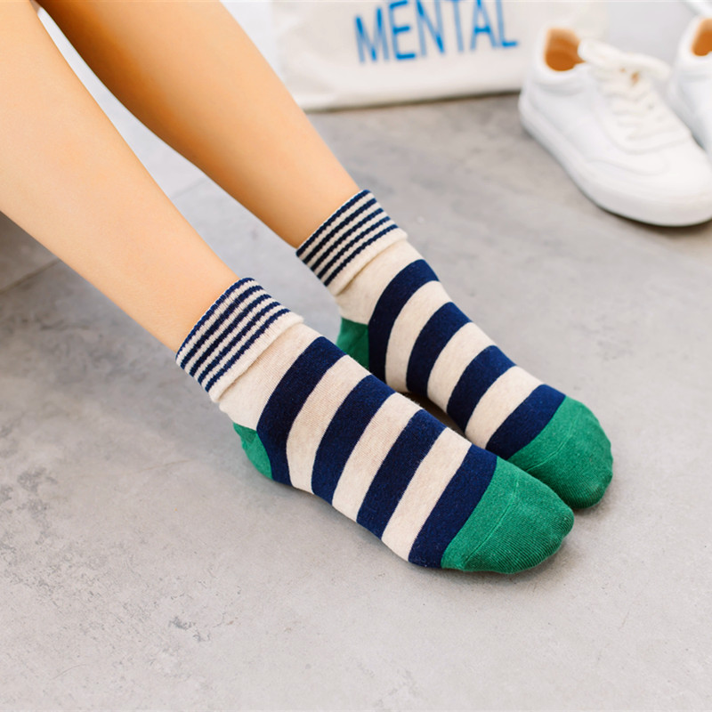 Funny   Socks   Women Various Colors Harajuku Female Cute   Sock   Women Designed School Students Female Striped Style Trendy Ladies