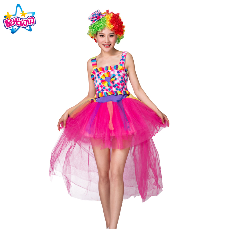 NoEnName Gratis forsendelseHoliday Cosplay Party Dress Up Clown Suit - Kostumer - Foto 5