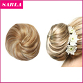 1PC Synthetic Hair Chignon Straight Donunt Buns Clip In Ballet Bun Straight Hairpieces Natural Hair Buns Chignons Q3