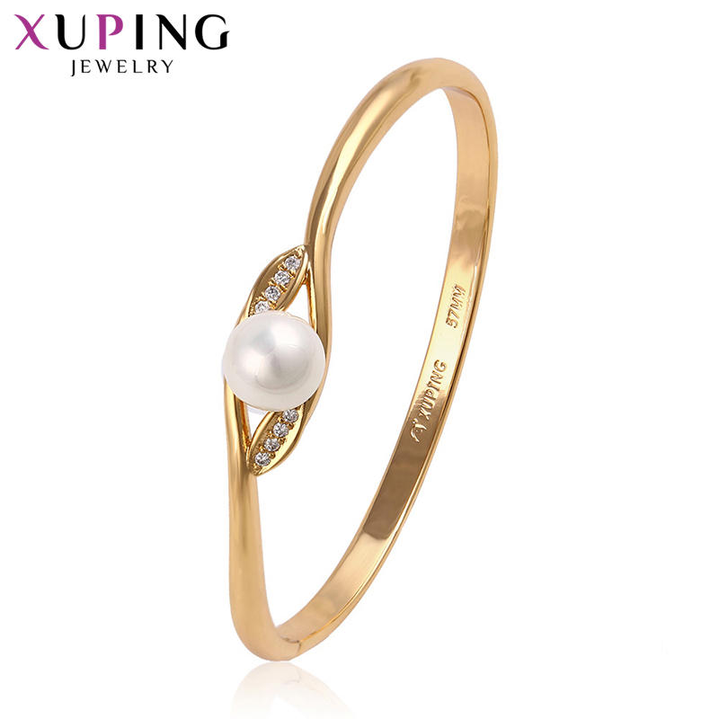 Xuping Special Design Bangles Fashion Imitation Pearl Jewelry Charms Styles Party Gifts for Ladies S163.8-51444