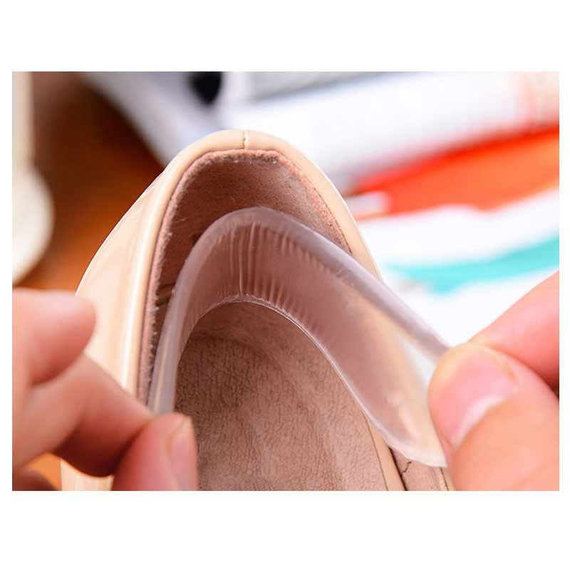 1Pair Transparent High Heel Pad Insoles Gel Pads For Feet Gel Insoles For Back Heel Stick Protect Pain Relief Foot Care Tools