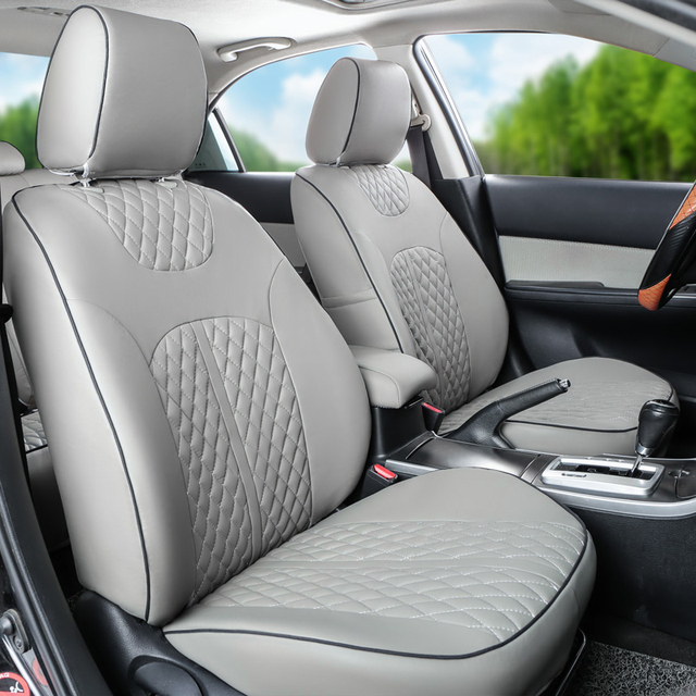 CARTAILOR Car Seat Protector for Nissan Patrol y61 y62 Seat Covers Black Cover Seats PU Leather Car Seat Cover Accessories Set