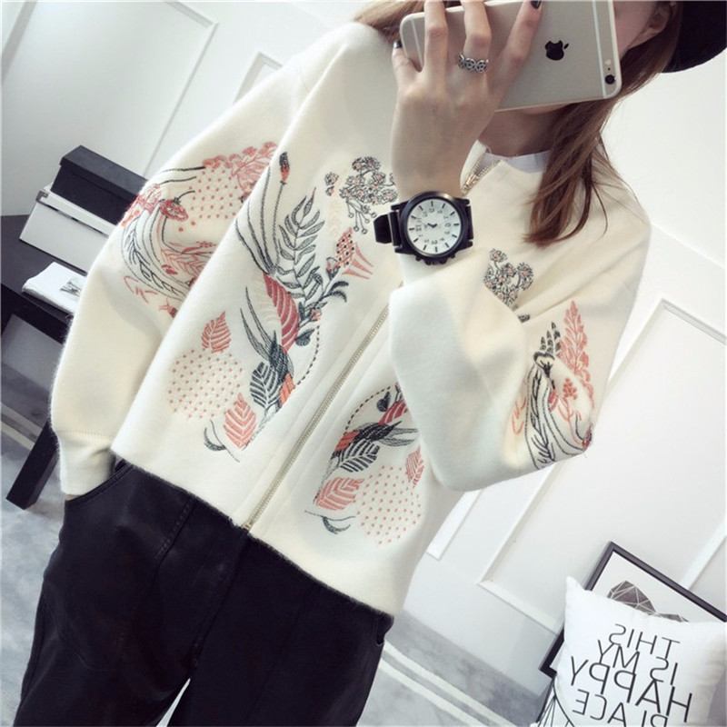 2019 Autumn Cardigans Winter Warm Women Long Sleeve Casual Sweater Knitted Tops
