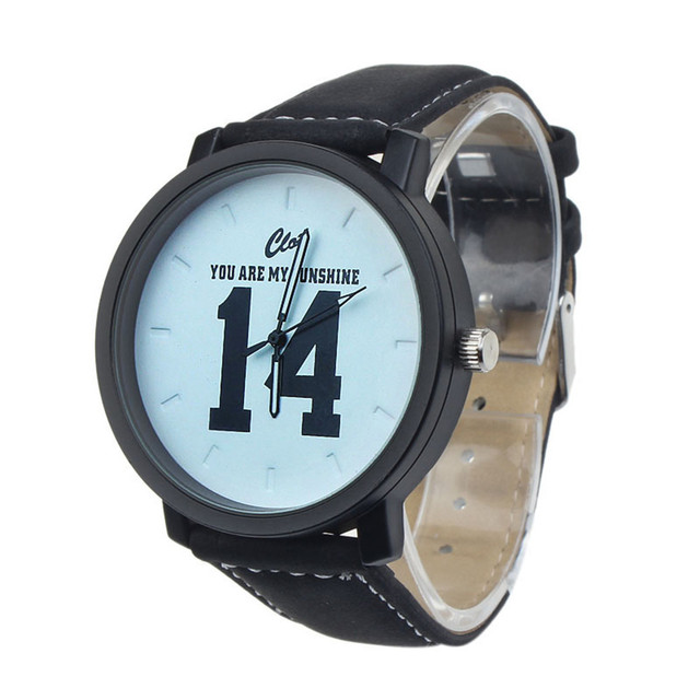 Couple Watches Fashion 1PC Lovers Analog Large Dial Sports Leather Strap Quartz Wrist Watch   Casual Clock Dropshipping